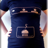 Tee-shirt de grossesse original « patisserie »
