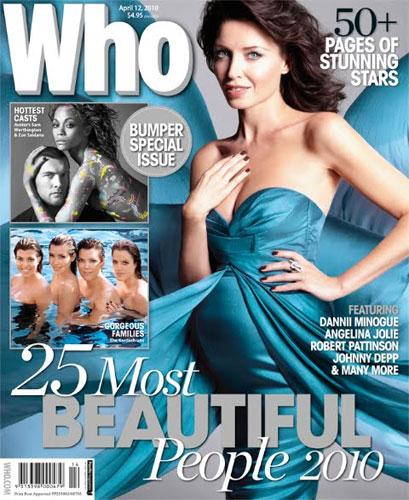 """Danii Minoguepose enceinte dans le magazine australier  """"Who"""""""
