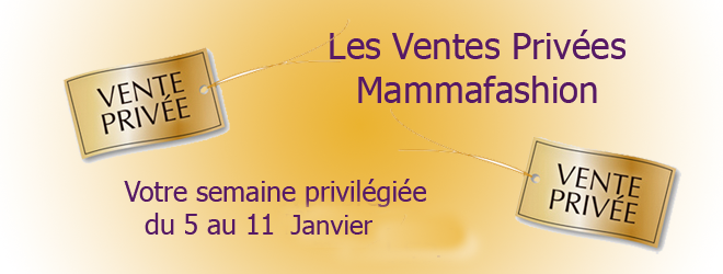ventes privées et soldes vetements de maternité