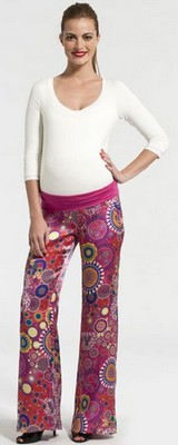 pantalon grossesse en soie pomkin